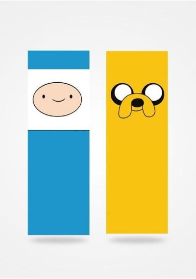 Marcador de Livro - A hora da aventura - Fin e Jake